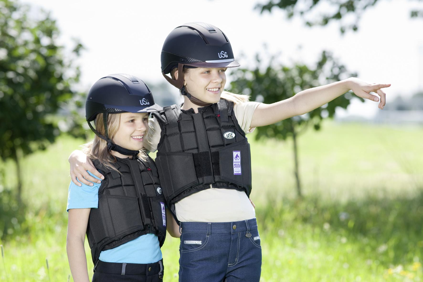 sicherheitsweste reiten kind