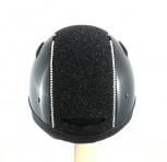 OneK Reithelm Defender Pro Glossy Glitter Swarovski schwarz